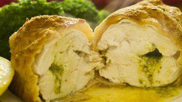 Chicken Kiev with buttery garlic recipe