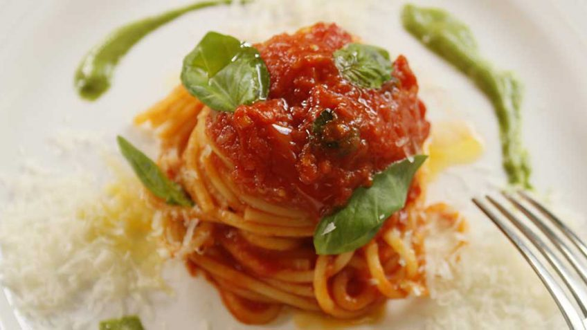 Spaghetti Peppe influenced by an Italian Michelin Star Chef