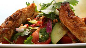 Simple chicken Thai salad