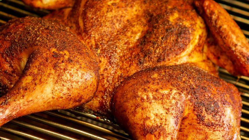 Moroccan style BBQ chicken