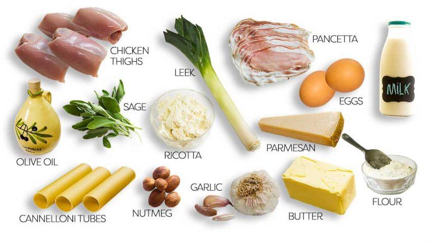 Chicken Cannelloni ingredients