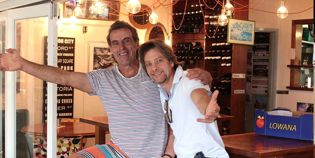 Chef Joel Mielle with Chef Rob Licciardo