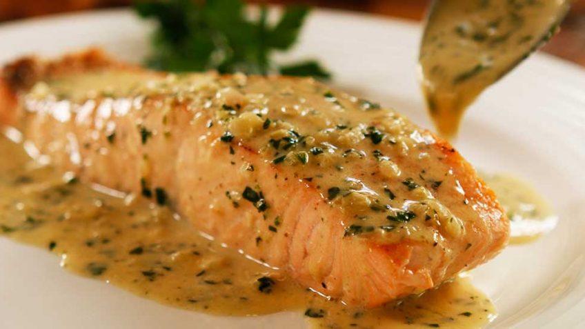 Perfect Pan Seared Salmon with lemon butter Cream Sauce