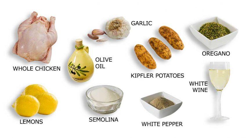 Greek chicken recipe ingredients