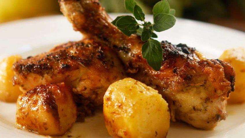 Greek Chicken with Lemon, Garlic and Potatoes