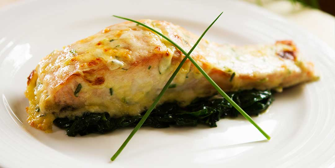 Salmon With A Chive And Mornay Cheese Sauce Easy Meals With Video Recipes By Chef Joel Mielle