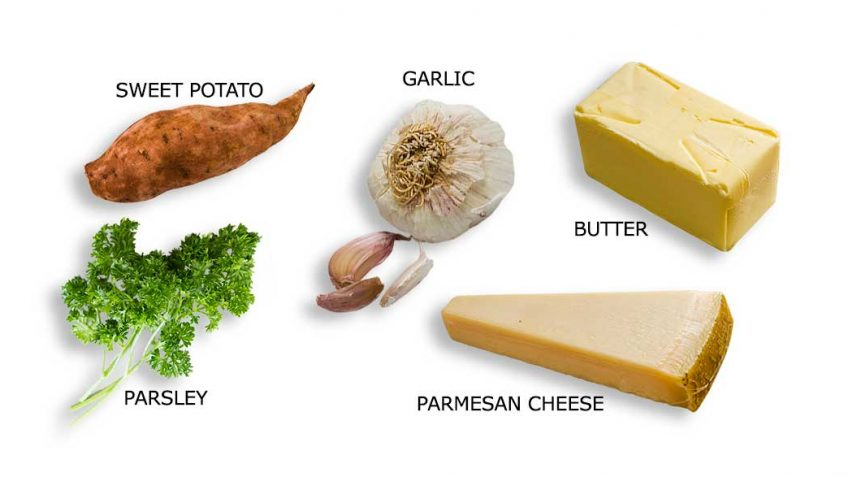 Sweet potato bake ingredients