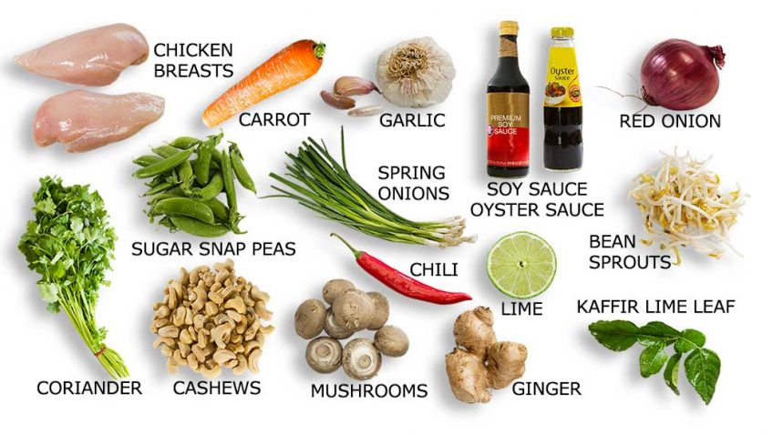 Thai Chicken Stir Fry ingredients