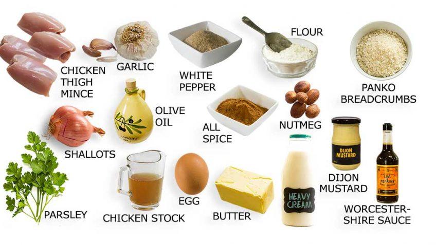 Ingredients for Swedish Chicken Meatballs
