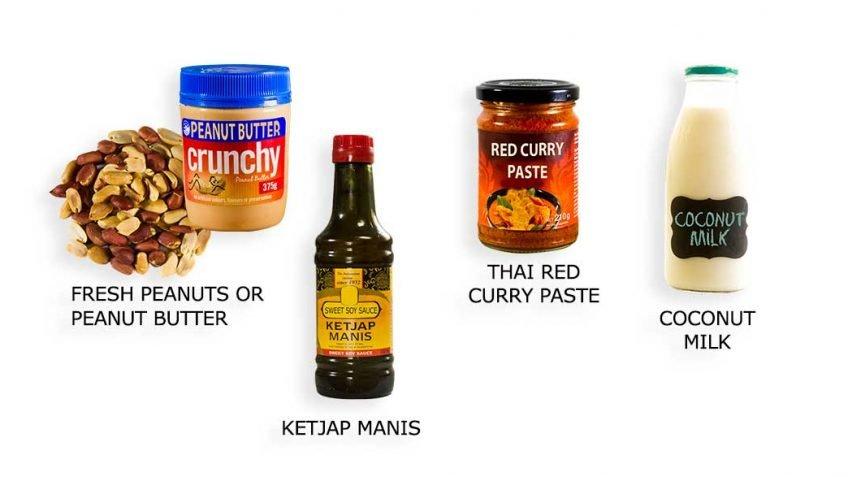 Satay sauce ingredients