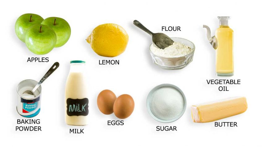 Apple Cake recipe ingredients