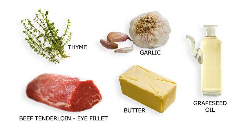 Slow cooked beef ingredients