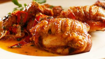 Chicken Scarpariello Braised Chicken With Sausage and Peppers Recipe
