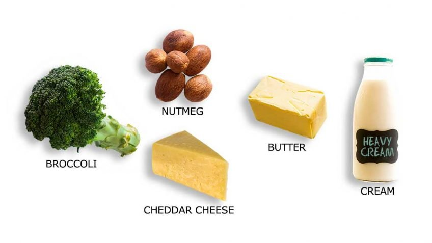 Broccoli Puree with a Cheesy Top