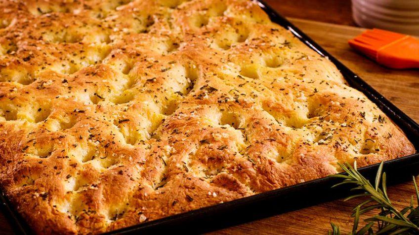 Focaccia with rosemary and sea salt - Italian bread