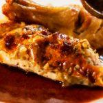 Roast tarragon chicken with rich onion and garlic gravy