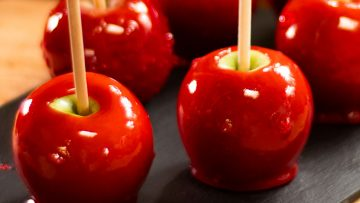 Halloween easy to make candy apples without corn syrup