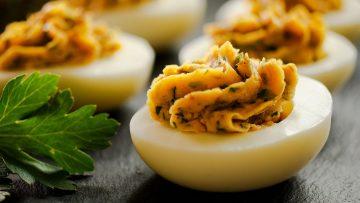 Deviled eggs Italian Style