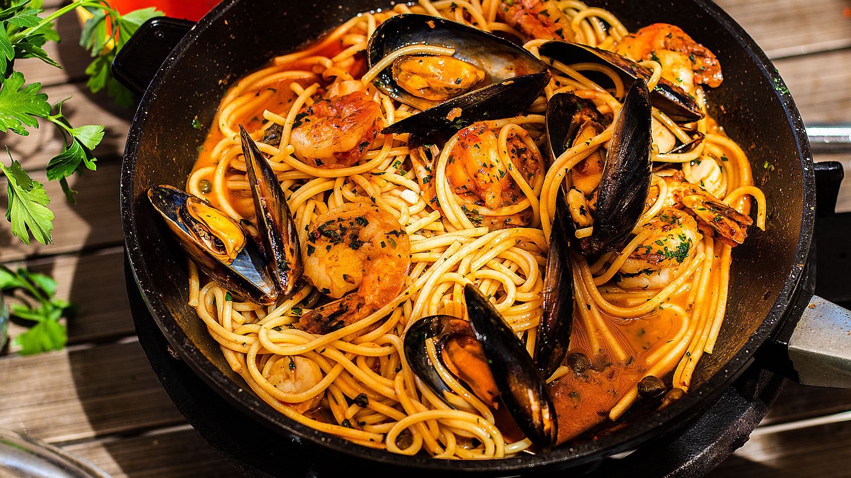 Seafood Spaghetti Marinara Easy Meals With Video Recipes By Chef Joel Mielle Recipe30