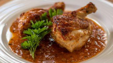Crispy Chicken in red wine vinegar