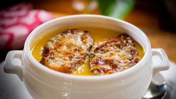 Two Cheese pumpkin soup