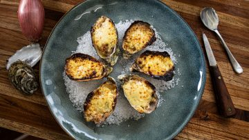 Oysters Gratinées