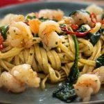 Garlic and Chili Shrimp Linguini
