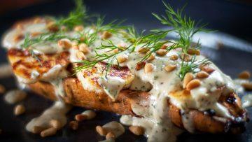 Sweet potato haloumi