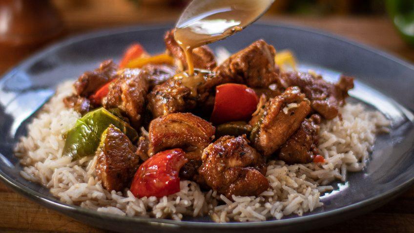 Three Bell Pepper Chicken Stew