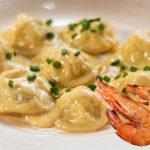 Shrimp Ravioli in Cream Sauce
