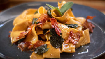 Pappardelle with sage and prosciutto